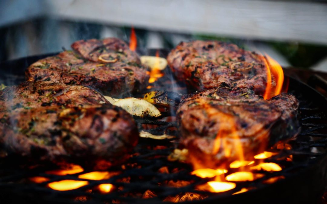 over fire grill
