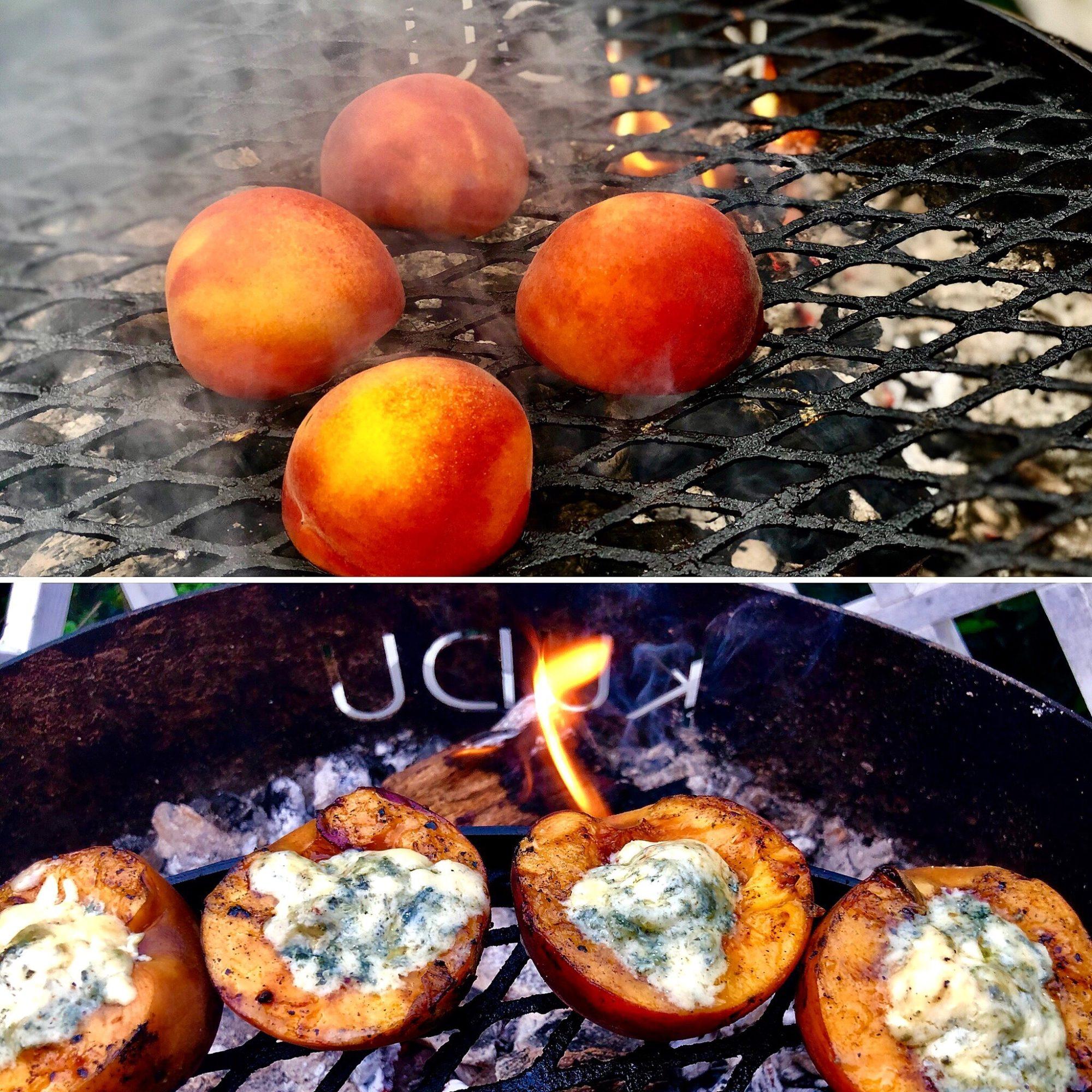 grilled peach salad