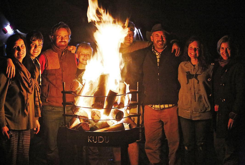 KUDU Grill transform into a bonfire